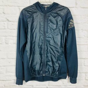 Adidas Runnning Womens Jacket Size 14 Black Hooded